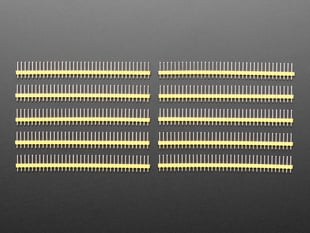"Break-away 0.1"" 36-pin strip male header - Yellow - 10 pack"