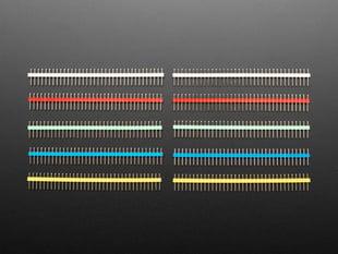 "Break-away 0.1"" 36-pin strip male header - Rainbow Combo 10 Pack"