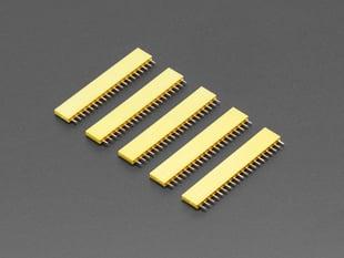 """20-pin 0.1"""" Female Header - Yellow - 5 pack"""
