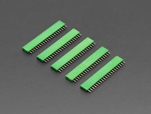 "20-pin 0.1"" Female Header - Green - 5 pack"