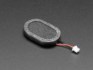 Mini Oval Speaker with Short Wires - 8 Ohm 1 Watt