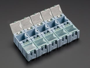 10 pack of Tiny Modular Snap Boxes for SMD component storage