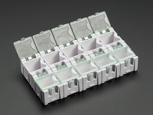 Tiny Modular Snap Boxes - SMD component storage - 10 pack - White