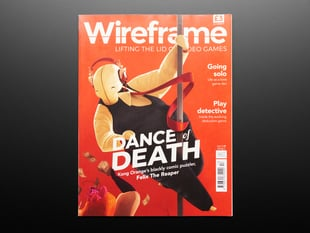 Front cover of Wireframe Magazine - Issue #13. Lifting the lid on video games. Dance of Death.