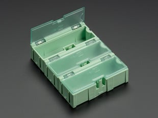 Small Modular Snap Boxes - SMD component storage - 3 pack - Green