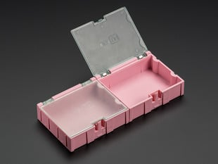 2 pack of Medium Modular Snap Boxes for SMD component storage