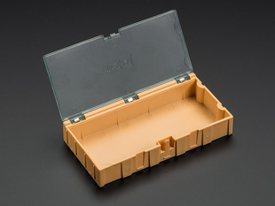 Large Modular Snap Box - SMD component storage - Orange