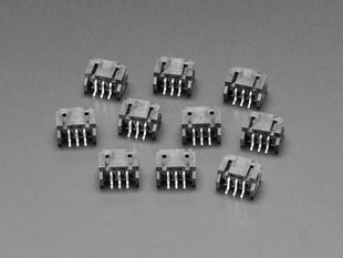 JST PH 3-pin Horizontal Connector (10-pack) - STEMMA