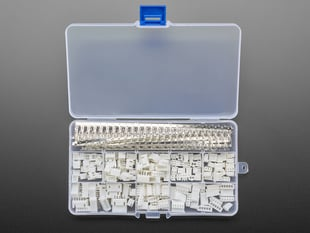 JST PH 2.0mm Pitch Connector Kit with many connectors and contacts in opened box