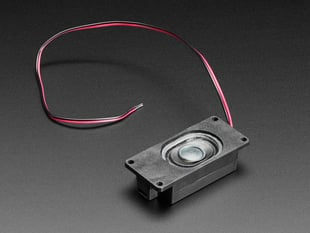Mono Enclosed Speaker with Plain Wires - 3W 4 Ohm