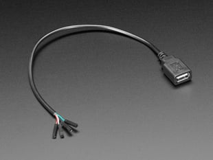USB Type A Socket Breakout Cable with Premium Female Jumpers