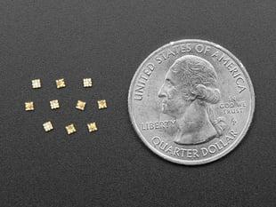 10 NeoPixel Addressable 1515 LEDs next to quarter