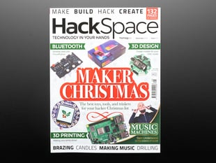 Front cover of HackSpace Magazine Issue #25 - Maker Christmas - December 2019.