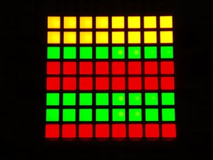 "Small 1.2"" 8x8 Bi-Color (Red/Green) Square LED Matrix"