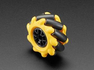 Left Mecanum Wheel for TT Motor or Cross Axles