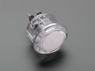 Arcade Button - 30mm Translucent Clear