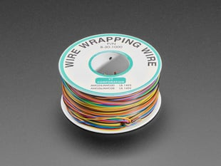 Large spool of Rainbow Wire Wrap Thin Prototyping & Repair Wire