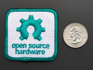 Open source hardware - Skill badge, iron-on patch