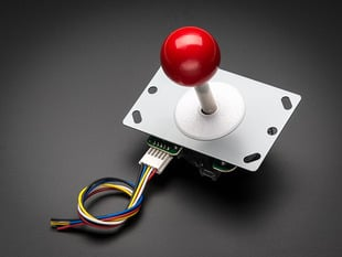 Small Arcade Joystick with red ball