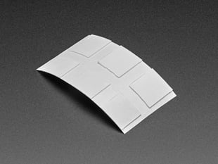 6 pack of Clear Adhesive Squares