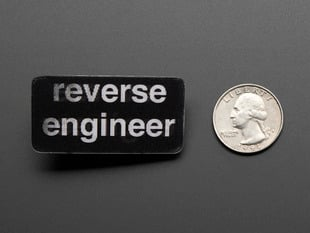 Reverse Engineer - Skill badge, Lenticular printing + pin-on