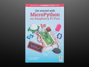 Front cover of book Get Started with MicroPython on Raspberry Pi Pico.