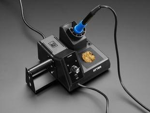 Angled shot of assembled soldering station.