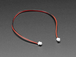 Angled shot of 1.25mm pitch 2-pin 20cm long cable.