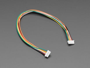 Angled shot of 1.25mm Pitch 6-pin Cable 20cm long.