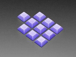 Grouped shot of 10 pack DSA color keycap purple  KIT