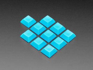 Grouped shot of 10 pack DSA color keycap Blue KIT