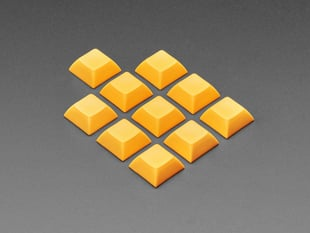 Grouped shot of 10 pack DSA color keycap ORANGE KIT