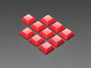 Group shot of 10 pack DSA color keycap RED KIT
