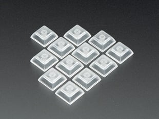 Group shot of Clear DSA Keycaps for MX Compatible Switches - 12 pack