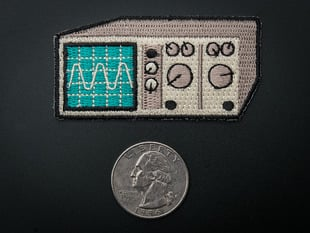 Oscilloscope - Skill badge, iron-on patch