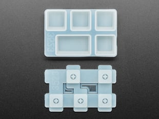 Top view of disassembled Caps Lock keycap molds