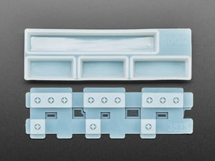 Top view of two piece Spacebar keycap mold.