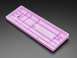 Angled shot of lavender keyboard shell.