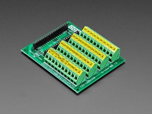 Angled shot of Screw Terminal Block Breakout Module Board for Raspberry Pi Pico.