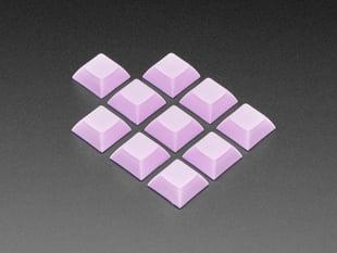 Grouped shot of 10 pack DSA color keycap Light Purple KIT
