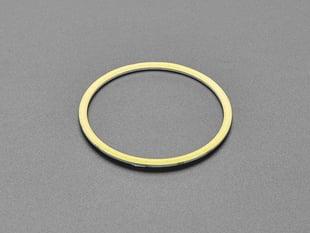Angled shot of COB ring light.