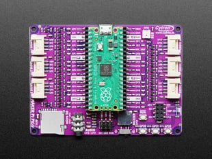 Top view of Maker Pi Pico board with a