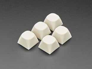 Milky White MA Keycaps for MX Compatible Switches - 5 pack