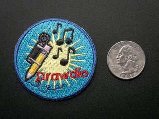 Drawdio! - Skill badge, iron-on patch