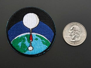 High-altitude balloon - Skill badge, iron-on patch