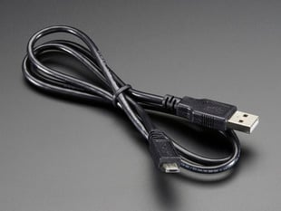 USB cable - A/MicroB - 3ft