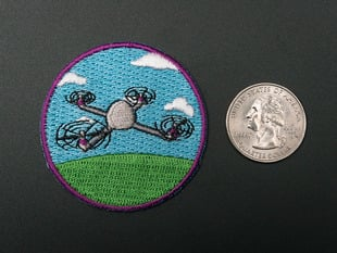 Educational mini UAVs- Skill badge, iron-on patch
