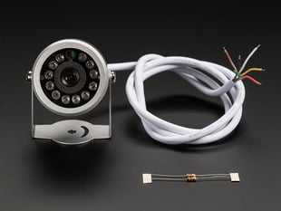 Weatherproof TTL Serial JPEG Camera with NTSC Video and IR LEDs