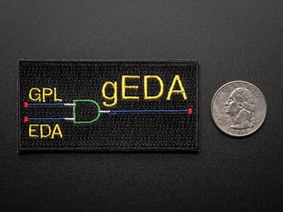 gEDA - Skill badge, iron-on patch
