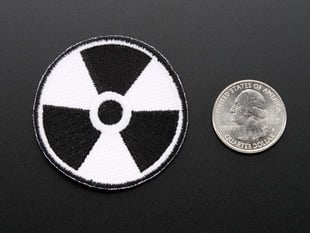 "Glow-in-the-dark ""Radiation"" Skill badge"